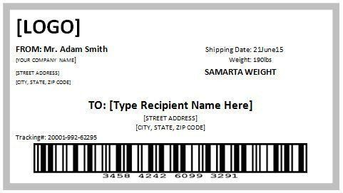 Shipping Label Templates Word 10 Free Template For Shipping Label
