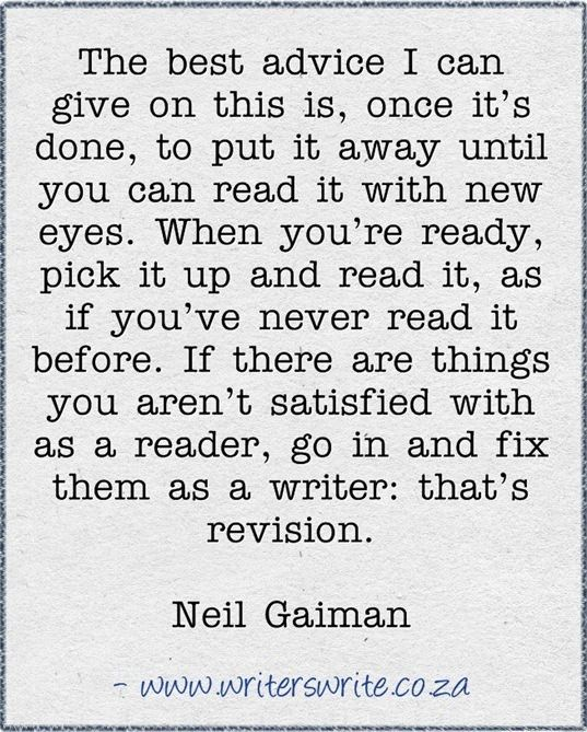 Neil Gaiman advice on writing.: