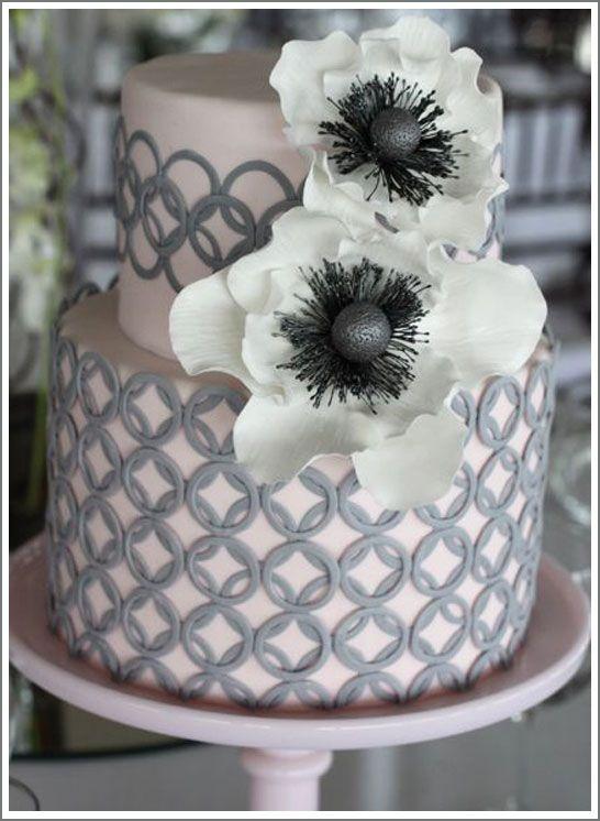 Love the fondant work on this: Wedding Idea, Gray Wedding, Grey Wedding, Pretty Cake, Cake Design, Beautiful Cake, Wedding Cake, Weddingcake