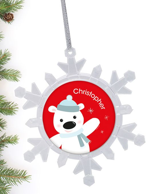 Cute Polar Bear Personalized Ornament by Spark & Spark #zulily #zulilyfinds