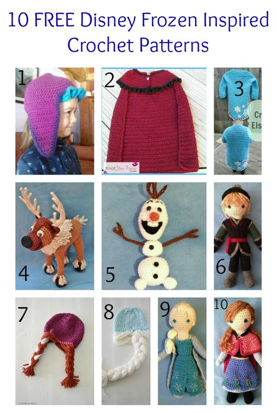 10 FREE Disney Frozen Inspired Crochet Patterns | The Steady Hand. I wish I had the crochet skills! Check out the Elsa/Anna hats! @alainademers: