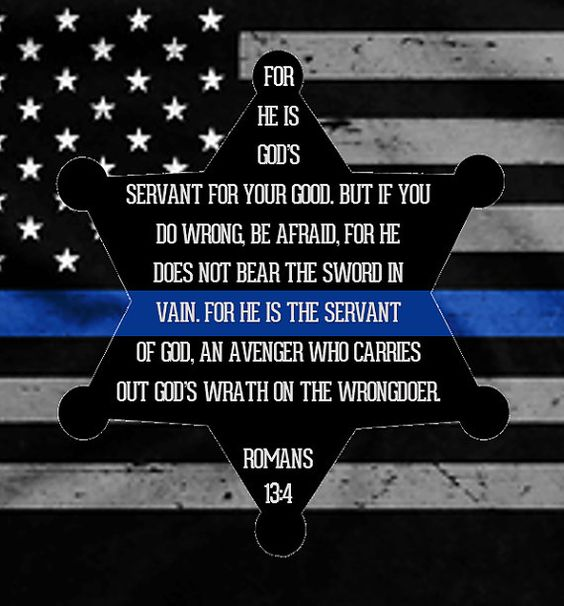 Law enforcement support thin blue line romans 13 4 for for North carolina tattoo laws