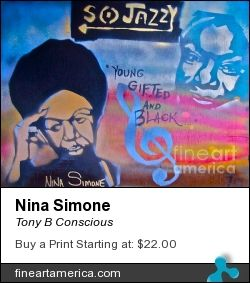 """Nina Simone"" by TONY B. CONSCIOUS (The Ghetto Van-Go) 323 251-4969. Original $100-200 or go to fineartamerica.com for prints or giclees."