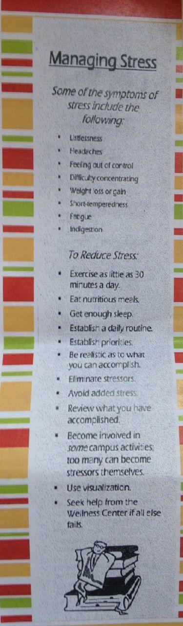 Ways to manage stress (OSU)