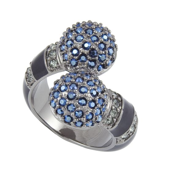 Too pretty... Montana Blue Ring w/ Swarovski Crystals by Michelle Monroe | Nyopoly