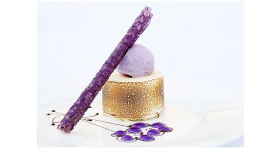 A blackberry and vanilla parfait from Mickeal Weiss - mmmmmmm