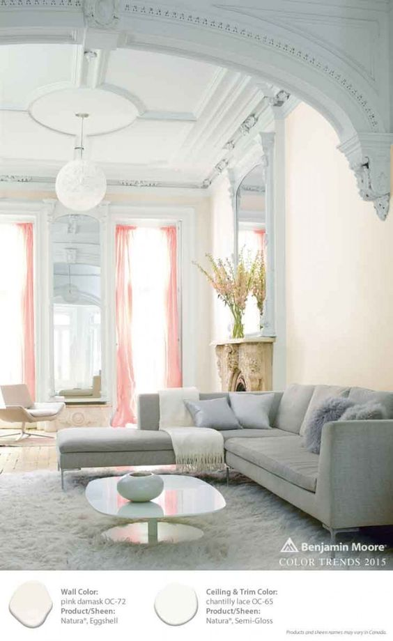 Pink damask chantilly lace grand inspiring interiors for Benjamin moore chantilly lace