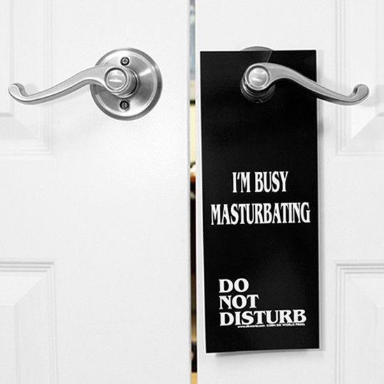 Masterbating with door