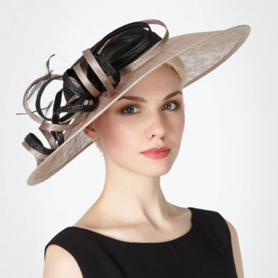 Beige two tone occasion fascinator Mother of the Bride Hats