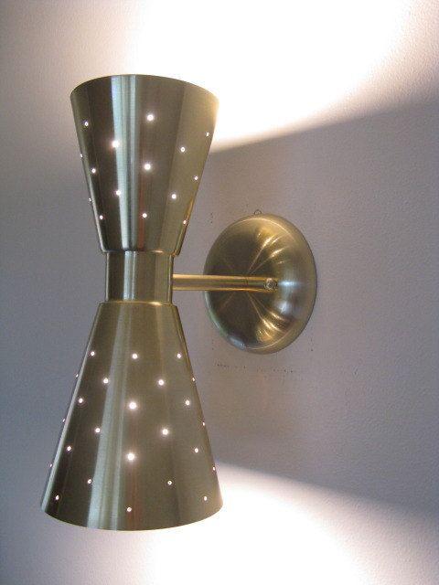 Mid Century Modern Double Cone Wall Sconce Wall Lamp Lighting Retro Atomic Via Etsy