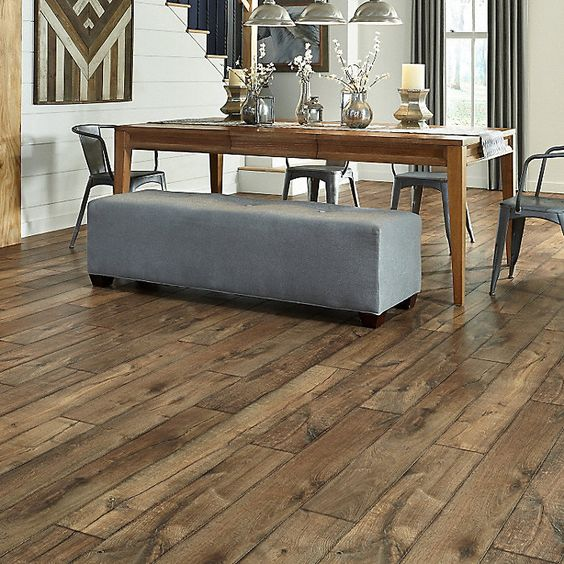 10mm Antique Farmhouse Hickory Fullscreen Love This Look Rustic Elegance Farmhouse Flooring Hickory Wood Floors Hickory Flooring