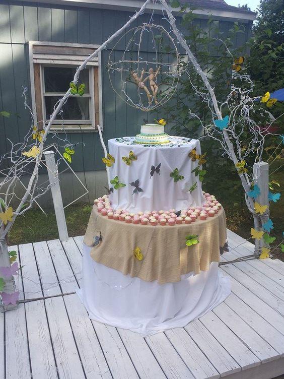 La mesa de le el pastel