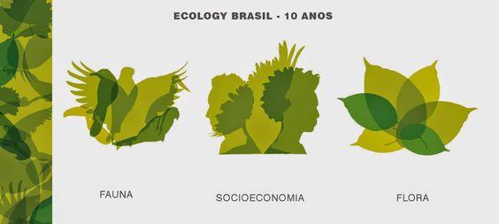 Logo comemorativa de 10 anos da Ecology Brasil