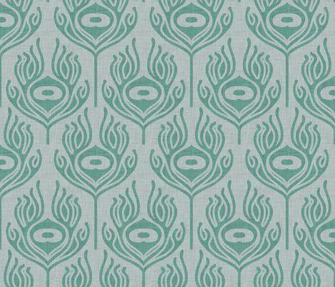 peacock_marine fabric by holli_zollinger on Spoonflower - custom fabric