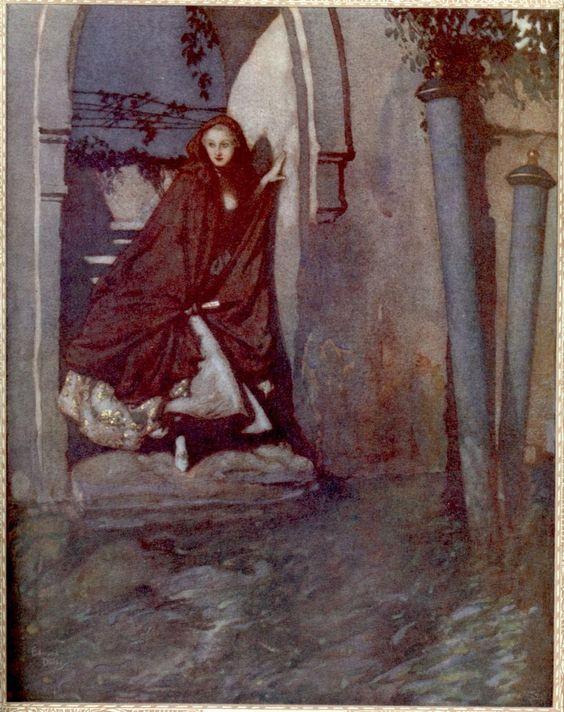 1912, Edmund Dulac illustration for the poem of Alfred de Musset, Venise.