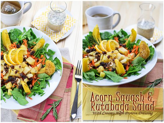 Brown & Wild Rice Dish With Butternut Squash, Spinach And Figs Recipe ...