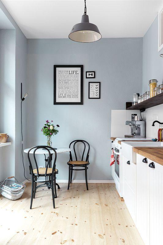 Homes with Heart Scandinavian Pretty Home Tour gl kitchen - farbe für küche