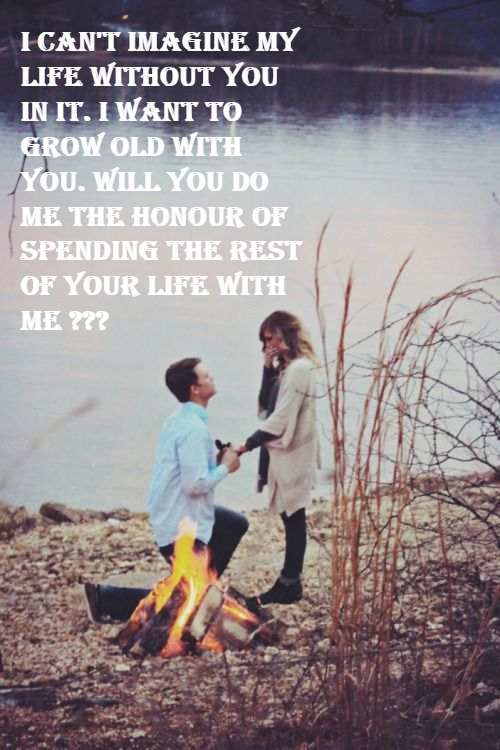 Words to girl romantic propose a The 33