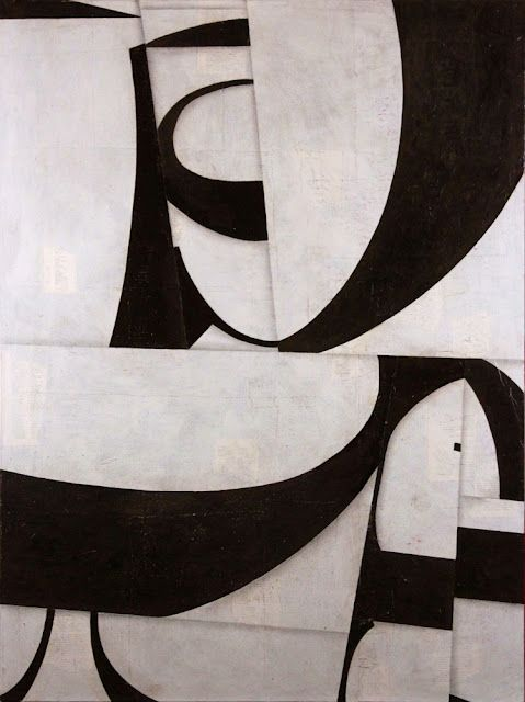 Cecil Touchon // PDP538CT12 - 44x33 inches - collage and acrylic on canvas: Abstract Art, Touchon Blackandwhite, Mixed Media, Black White, Cecil Touchon, Art Collage, Art Abstract, Touchon Collage