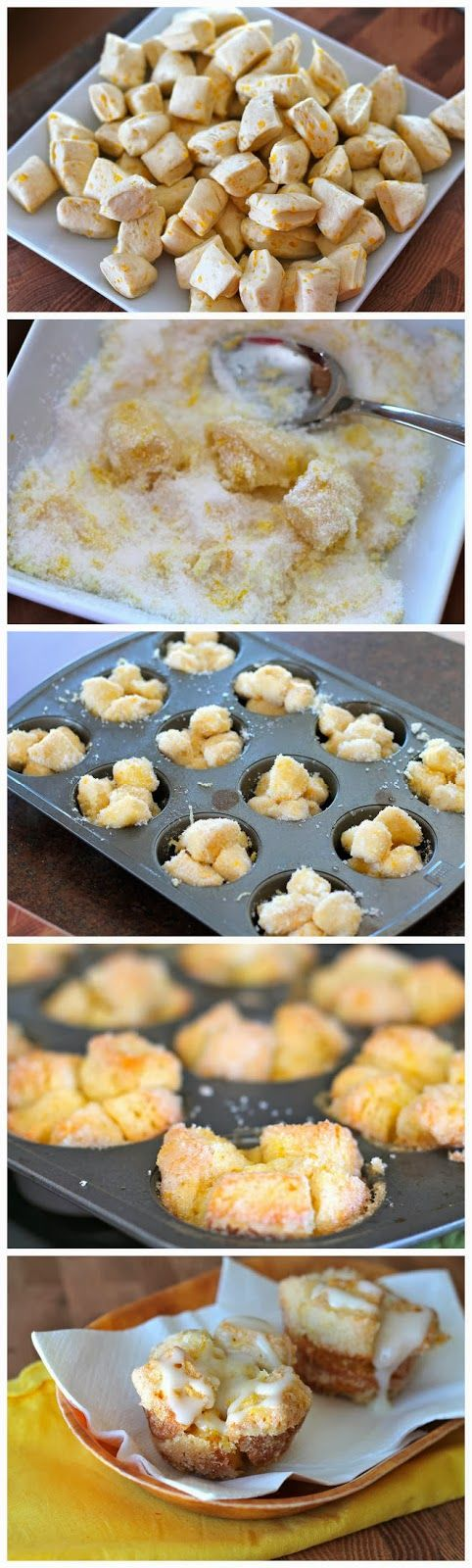 Lemon Monkey Bread Cupcakes - these are in the oven and smell delicious!