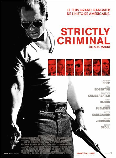 STRICTLY CRIMINAL. Dans le Boston des années 70, l'agent John Connolly du FBI convainc le mafieux irlandais James «Whitey» Bulger de collaborer avec le FBI afin d'éliminer leur ennemi commun : la Mafia italienne.