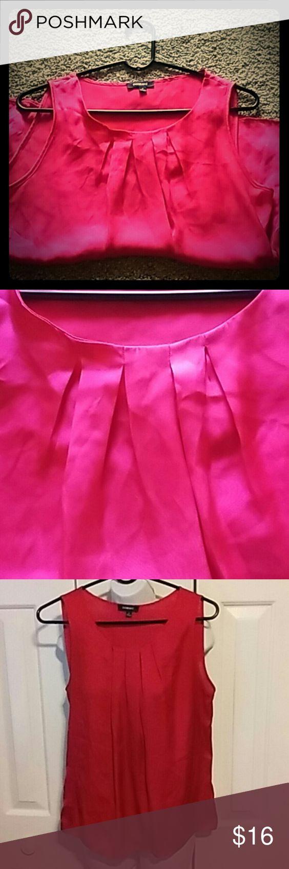 Elegant Pink Shirt Silk like material. Boutique Tops Blouses