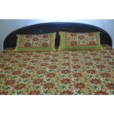 Designer Bed SheetHandcrafted BedsheetsBuy Rajasthani by Chidya, $38.00