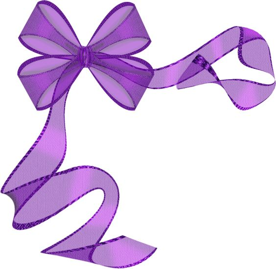 purple ribbon bow clip art borders   corners pinterest Cancer Ribbon SVG Cancer Ribbon Outline Vector