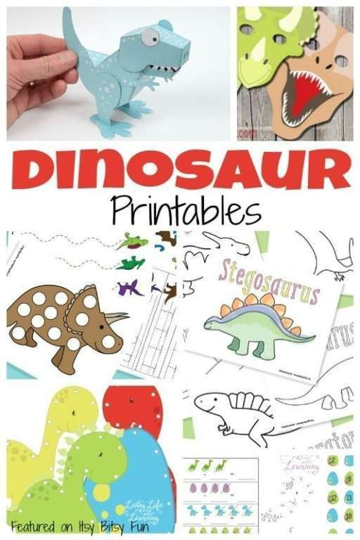 A Ton Of Free Dinosaur Printables For Kids Dinosaur Printables Dinosaur Activities Dinosaur Party Dinosaur worksheets for preschool free