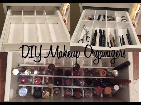 Diy Makeup Drawer Organizers Youtube Makeup Drawer Organization Diy Drawer Organizer Drawer Organizers