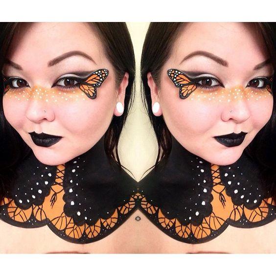 Monarch #mehron #mehronmakeup #monarch #butterfly #bodypaint #butterflyqueen #makeup #torimichellemua #mua #followme @mehronmakeup