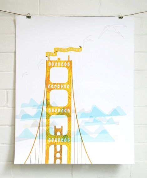 Before You Go // check out J. Hill Designs for some awesome city prints http://www.jhilldesign.com/pages/meet-jen: Francisco Print, Design San, Bedroom Sanfrancisco, Hill Design, Prints San, Landmark Print