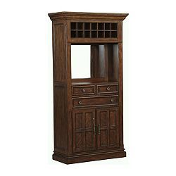 This #wine #cabinet has enough storage to keep all of your #cocktail #party tricks hidden, from #drinks to #napkins. Add the Sheffield's Tavern collection to your #bar room. Only at #Havertys.