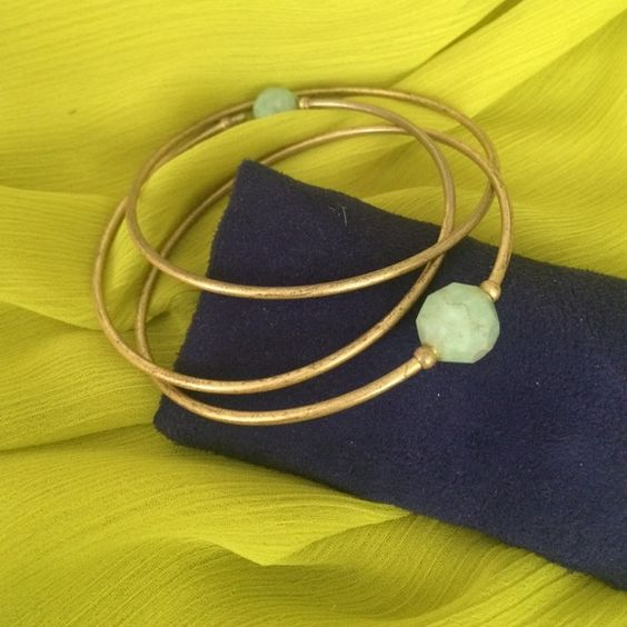 Light blue stone gold bangles Gold bangles Jewelry Bracelets
