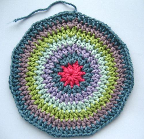 how to make a flat circle crochet