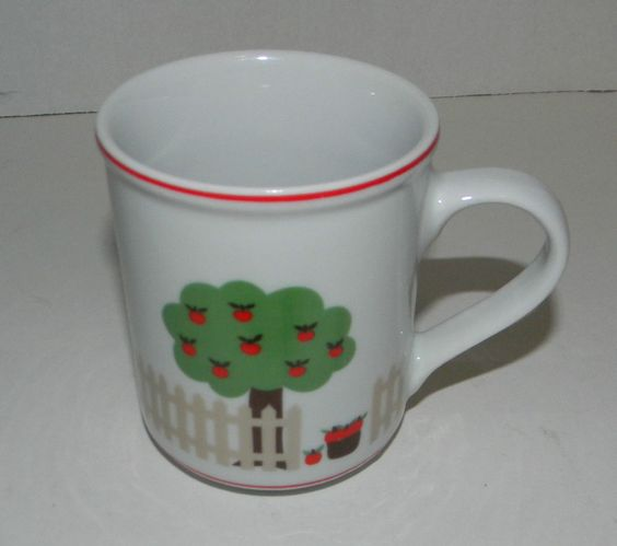 Peachtree Designs Porcelana Veracruz Cup Mug Coffee Tea Brazil 1984 VTG