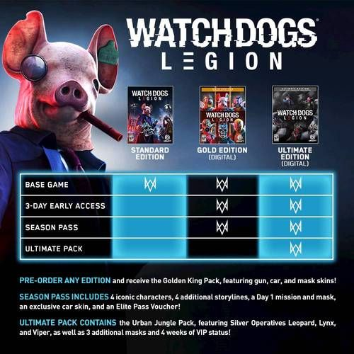 Watch Dogs Legion Standard Edition Xbox One Xbox Series X Digital Digital Item Best Buy Watch Dogs Xbox One Watch Dogs Game
