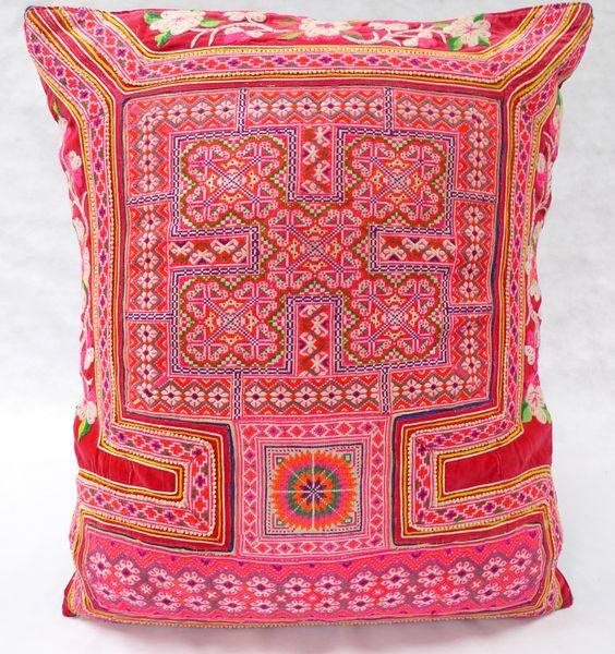 Hmong embroidered cushion LC24