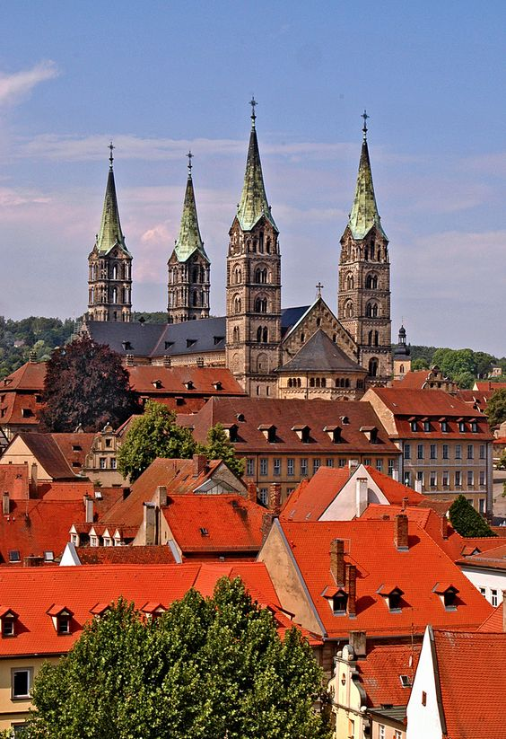 One of the largest cathedrals I have evere been in.  I still remember being able to tsee the catacombs through spaces between the wall and floor....gave me nightmares when I was little. The cathedral of Bamberg in Bavaria Germany  ( via gornabanja )