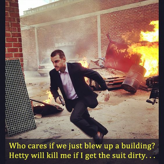 """NCISLA Magazine: Meme Monday 3 """"Hetty will kill me if I get the suit dirty!"""" (yes she will lol)"""