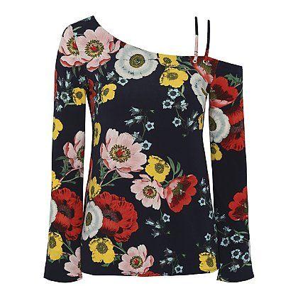 Floral One Shoulder Eyelet Top | Women | George at ASDA