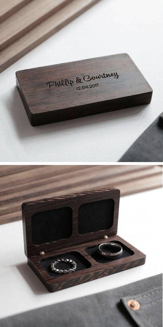 Woodsbury Wedding Ring Box Wedding Gift Anniversary Gift Wooden