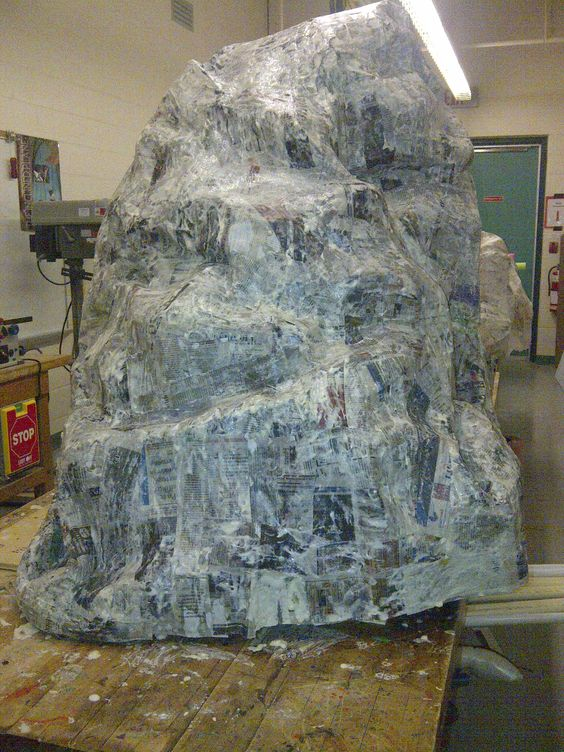Paper mache rocks and islands on pinterest for Papier mache rocks