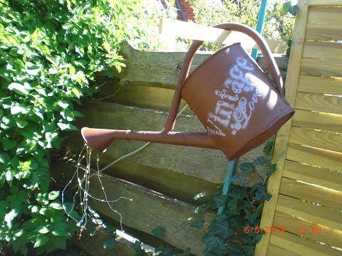 Vintage Rost Giesskanne Mit Licht Youtube Giesskanne Solar Lichterkette Garten Deko