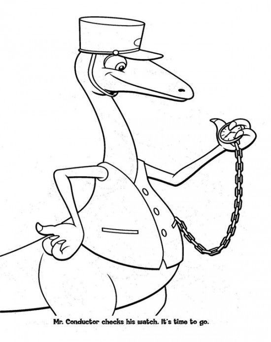 Dinosaur Train Conductor Coloring Pages See The Category To Find