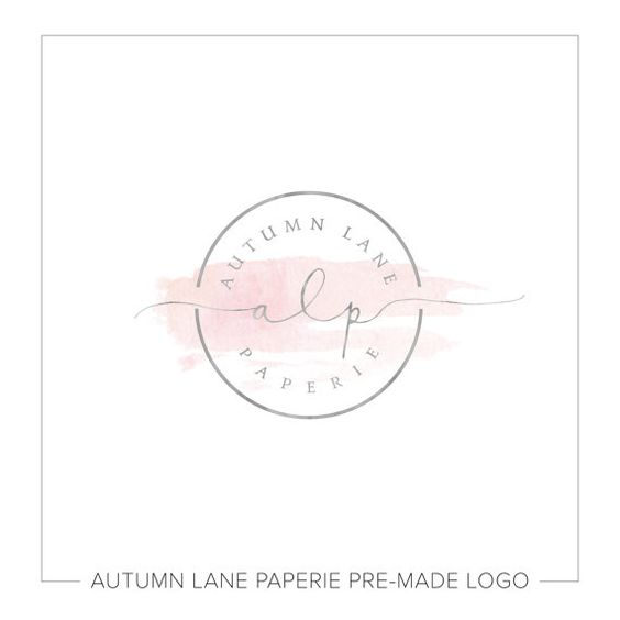 Premade Logo Design  Watercolor Circle Logo  by AutumnLanePaperie