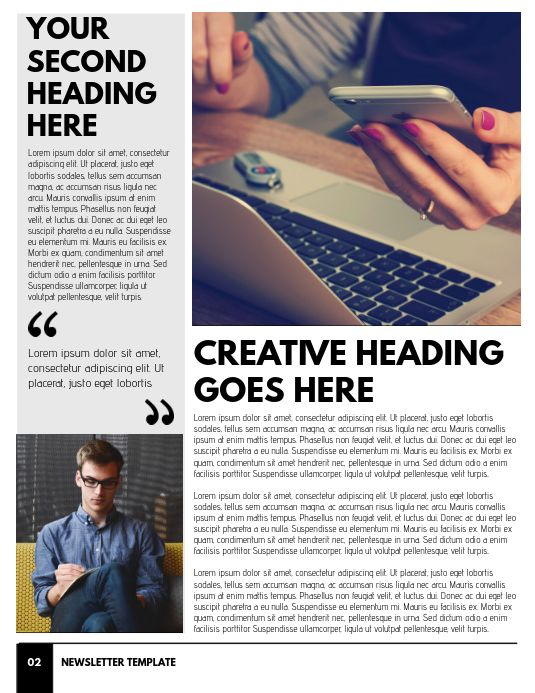 Newsletter Template Page 2 In 2020 Newsletter Templates Newsletter Design Templates Newsletter Template Free
