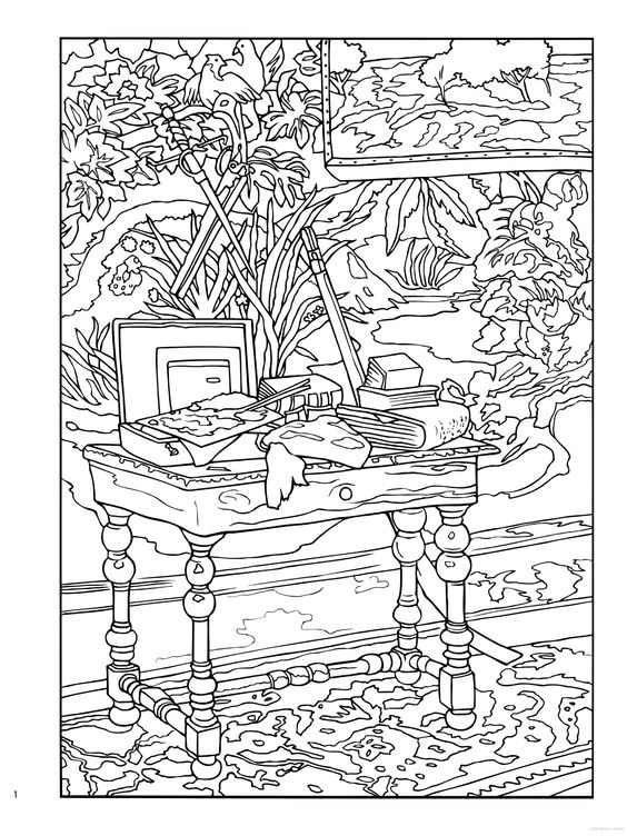 famous monet coloring pages printables - photo#11