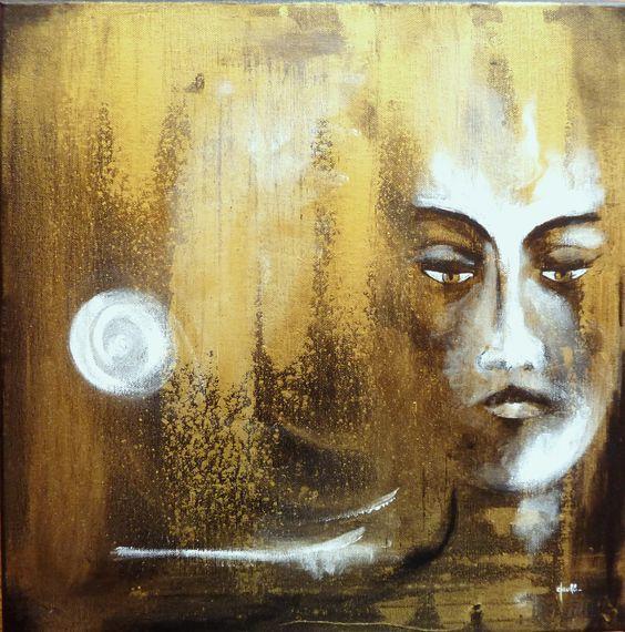 Si Le Silence Est D'Or - Peinture Acrylique Sur Toile by Clau Redier-Clément