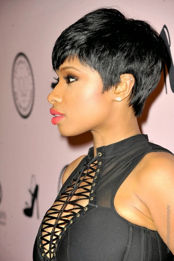 30 Popular Hairstyles for Black Women | Fame-Framing Pixie with Bangs | Hairstyle on Point